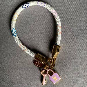Louis Vuitton Luck It Multicolor Leather Bracelet